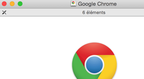 Instalando Google Chrome en archivo dmg