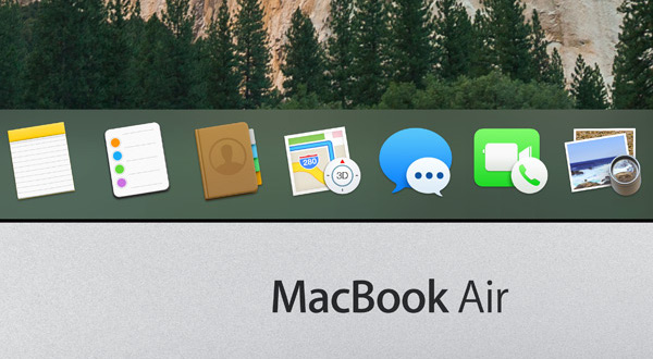 Dock de un MacBook Air