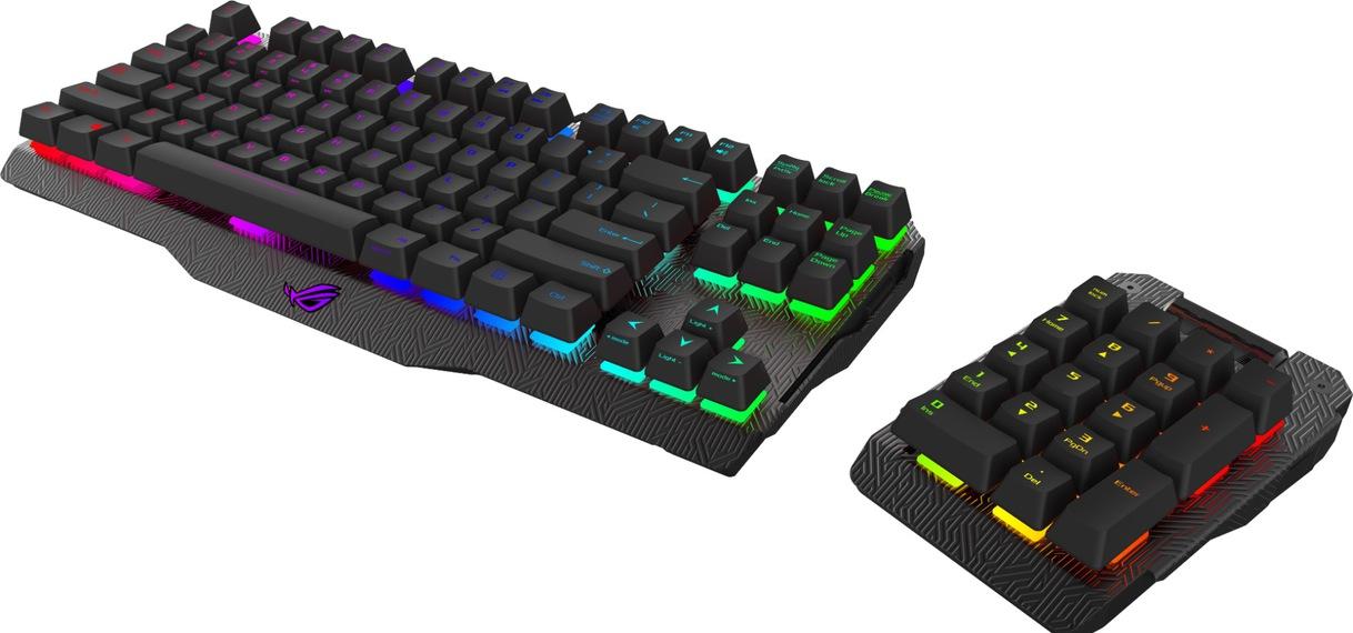 Con el teclado Asus ROG Claymore tú decides en qué lado está el teclado numérico