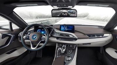 BMW elimina los retrovisores exteriores y da la bienvenida a las cámaras en el i8 Mirrorless