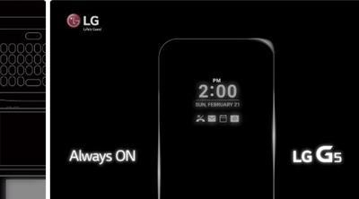 El G5 de LG y su pantalla 'Always On'