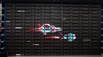 Logitech crea una animación usando 160 teclados como pantalla