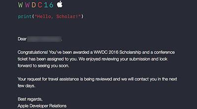 Las becas escolares del WWDC de Apple ya tienen nombre y apellidos