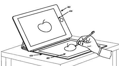 Patentes de Smart Cover de Apple con panel solar y bloc de dibujo digital