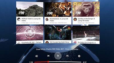 Youtube prepara su interfaz de realidad virtual