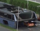 China planea un autobús que circula por encima de los coches