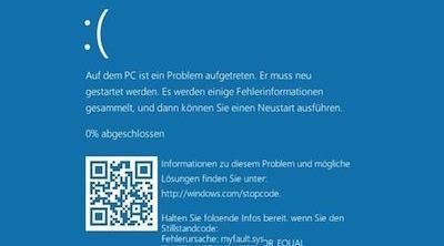 La pantalla azul de Microsoft llevará incluido un código QR para detectar los errores