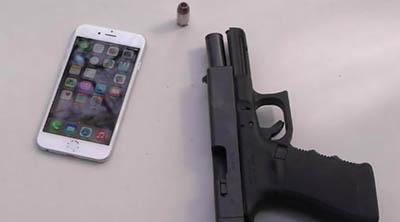 El usuario que disparó a un iPhone 6