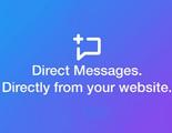 Twitter ofrece un botón para mandar mensajes directos desde una web