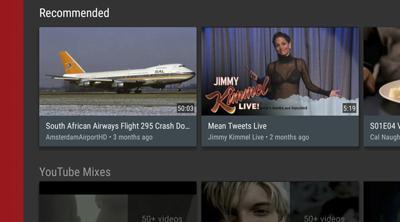 Nueva interfaz para la app de YouTube en SmartTV