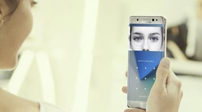 Las apps bancarias usarán el escáner de iris del Galaxy note 7