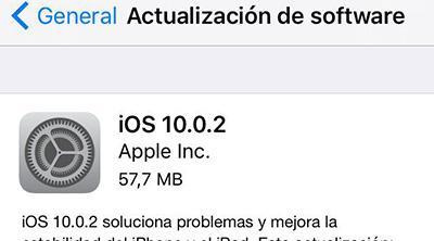 Apple lanza iOS 10.0.2 para solucionar pequeños problemas