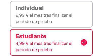 La promoción de Apple Music para estudiantes llega a España