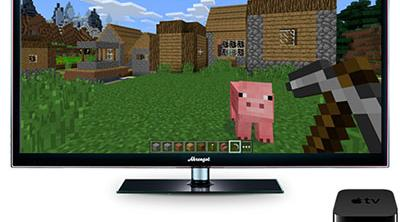 Minecraft ya está disponible para la Apple TV