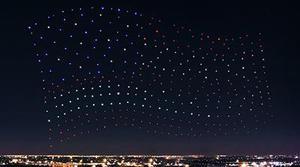 La actuación de Lady Gaga en la SuperBowl es iluminada con 300 drones