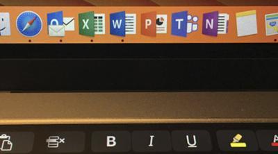 La Touch Bar de los MacBook Pro ya funcionará con Office