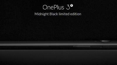 OnePlus prepara su edición limitada 3T Midnight Black