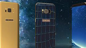 Si te sobra mucho el dinero puedes hacerte con un Galaxy S8 con oro de 24 kilates