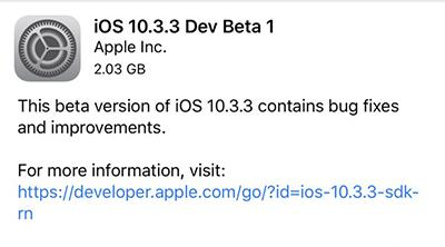 Nuevas betas de Apple: macOS 10.12.6 y iOS 10.3.3