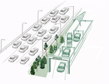 Proponen un carril a 195 kmh exclusivo para coches autónomos para aliviar autopistas y ciudades
