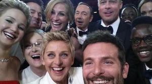 El selfie de Samsung: el gran invitado de los Oscar