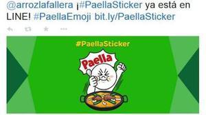 El emoji de la paella gana la primera ronda en Line