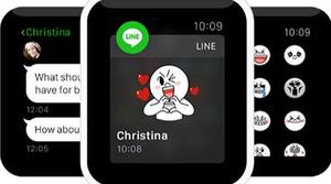 Line dará soporte a Apple Watch
