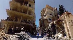 Realizan un video de 360 grados en una ciudad devastada de Siria
