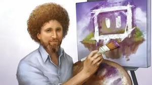 El artista Bob Ross triunfa en Twitch Creative