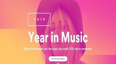 Toda la música que has escuchado en 2015 está en 'Year in Music', de Spotify
