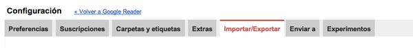 Cómo exportar las suscripciones de tu Google Reader