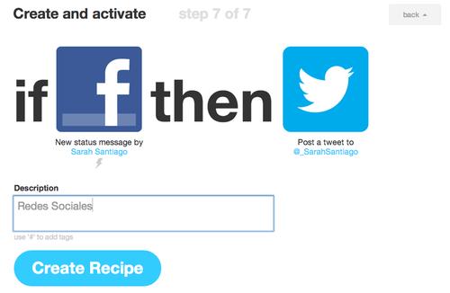 Crea tu primera receta con IFTTT