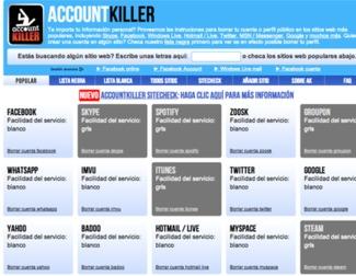 Cómo borrar tus cuentas de usuarios en páginas web