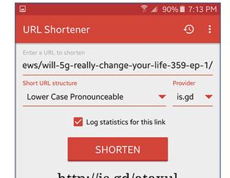 Cómo compartir URLs personalizadas desde Android