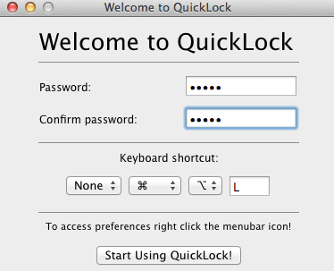 QuickLock, la alternativa para bloquear el acceso a tu Mac