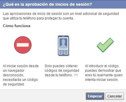 Cómo configurar la verificación en dos pasos de Facebook