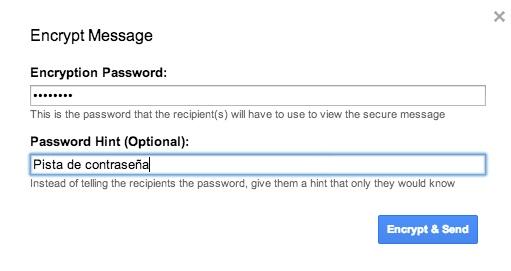 Cifra los correos que envías desde Gmail a golpe de click