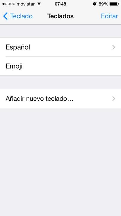 Teclados de iPhone con Emoji activado