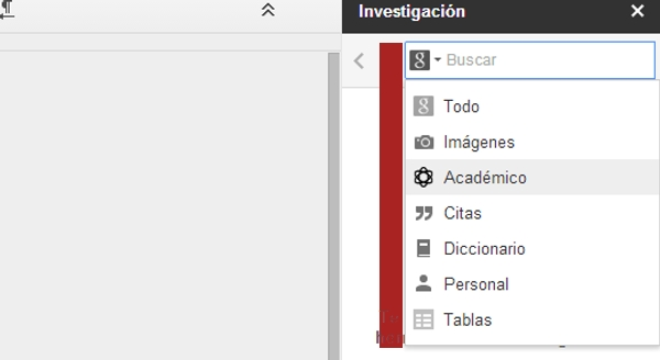 Filtros de búsquedas en diferentes servicios de Google