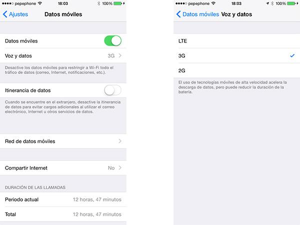 Ajuste de datos en iOS