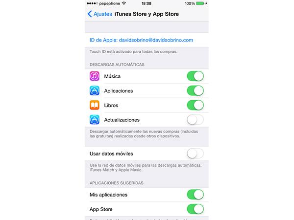 Actualizaciones automáticas de aplicaciones en iOS