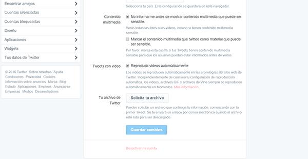 Cómo borrar tu cuenta de Twitter