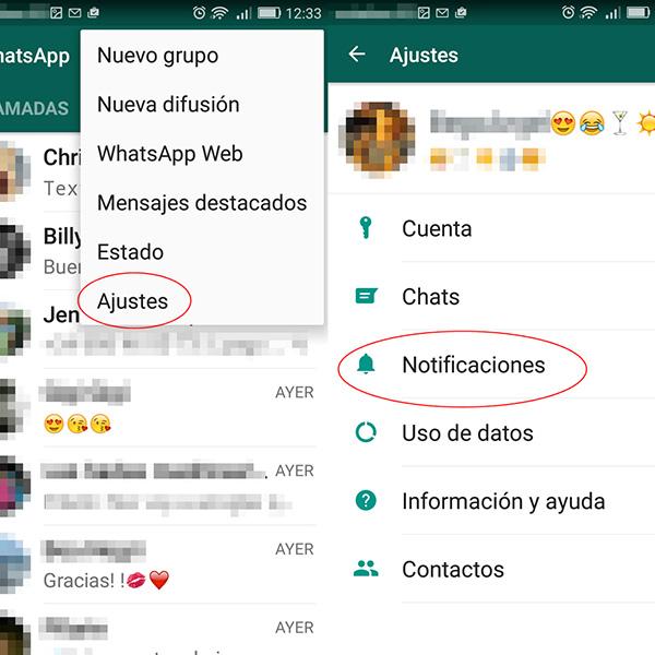Cómo cambiar los tonos de notificación de WhatsApp