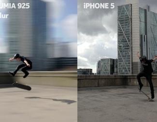Comparativa de las cámaras de un Lumia 925 y un iPhone 5