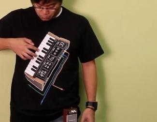 Nueva camiseta musical con amplificador