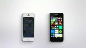 Anuncio Siri vs. Cortana