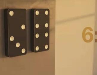 Concepto de Domino Clock