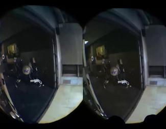 Prueba de interacción de los controladores de la versión de desarrollo de HTC VIVE
