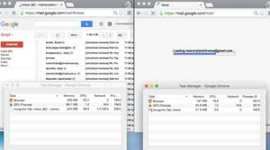 Comparativa consumo de memoria Chrome 43 vs Chrome 45