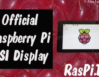 Anuncio oficial de la pantalla táctil para Raspberry Pi